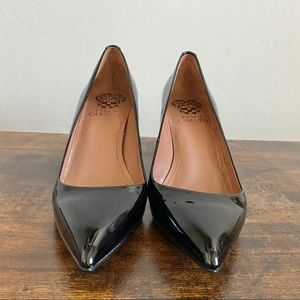 Vince Camuto Women's Black Patent Leather Pumps
